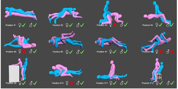 La cadera en 12 posturas sexuales